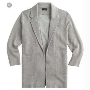 J. CREW 365   sparkly sweater open front blazer S